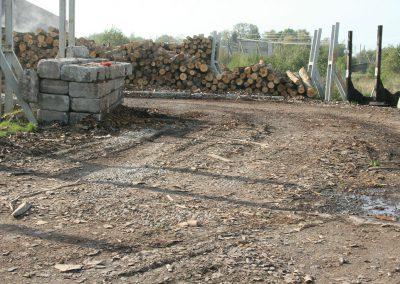 Iškrovimo aikštelė iki betonavimo