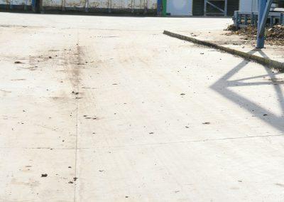 Betono paviršius be jokių erozijos požymių po 3 metų intencyvios eksplotacijos