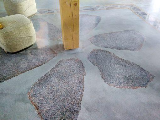 Kaimo sodybos teracinių grindų apsauga nuo dulkėtumo bei paviršiaus išdilimo