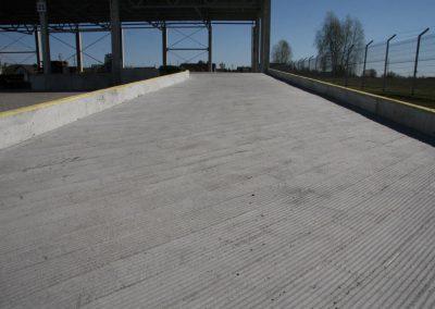 Pakrovimo-iškrovimo rampos betonavimas ir paviršiaus hidroizoliavimas