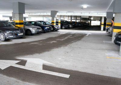 Daugiaaukščio betoninio parkingo apsauga nuo druskingo vandens bei šalčio-šilumos ciklų